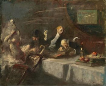 A Night at Maxim`s 1907 | Jean Louis Forain | oil painting
