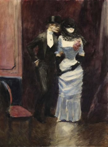 At the Masquerade 1885 | Jean Louis Forain | oil painting