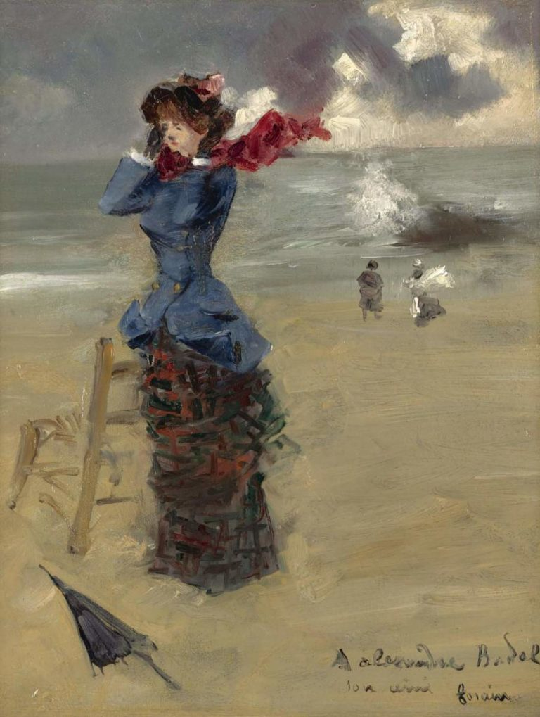 Elegant Woman at the Beach 1885 | Jean Louis Forain | oil painting