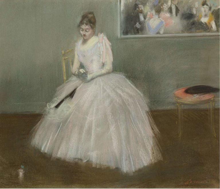 Le Carnet de Bal 1888   Jean Louis Forain   oil painting
