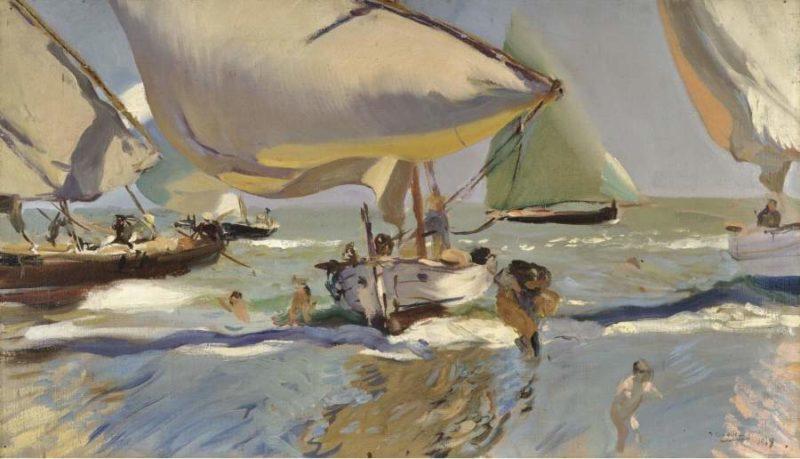 Boats on the Shore 1909   Joaquin Sorolla y Bastida   oil painting