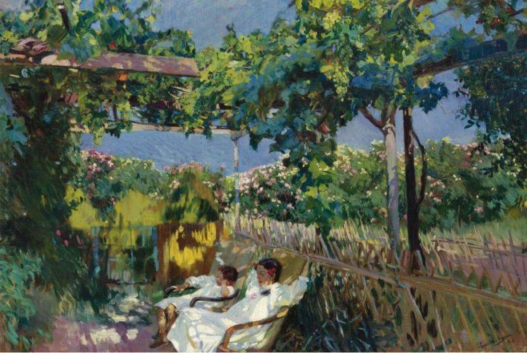 Siesta in the Garden 1904 | Joaquin Sorolla y Bastida | oil painting
