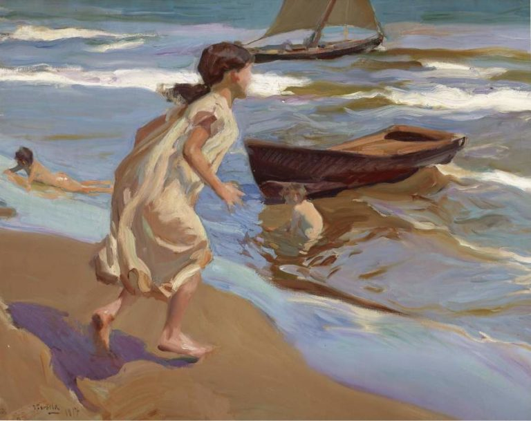 The Bathing Hour 1917 | Joaquin Sorolla y Bastida | oil painting