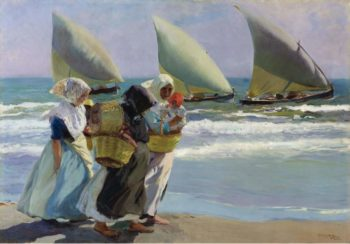 Three Sails 1903 | Joaquin Sorolla y Bastida | oil painting