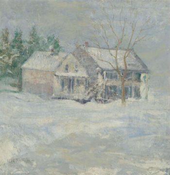 Brush House Cos Cob | John Henry Twachtman | oil painting