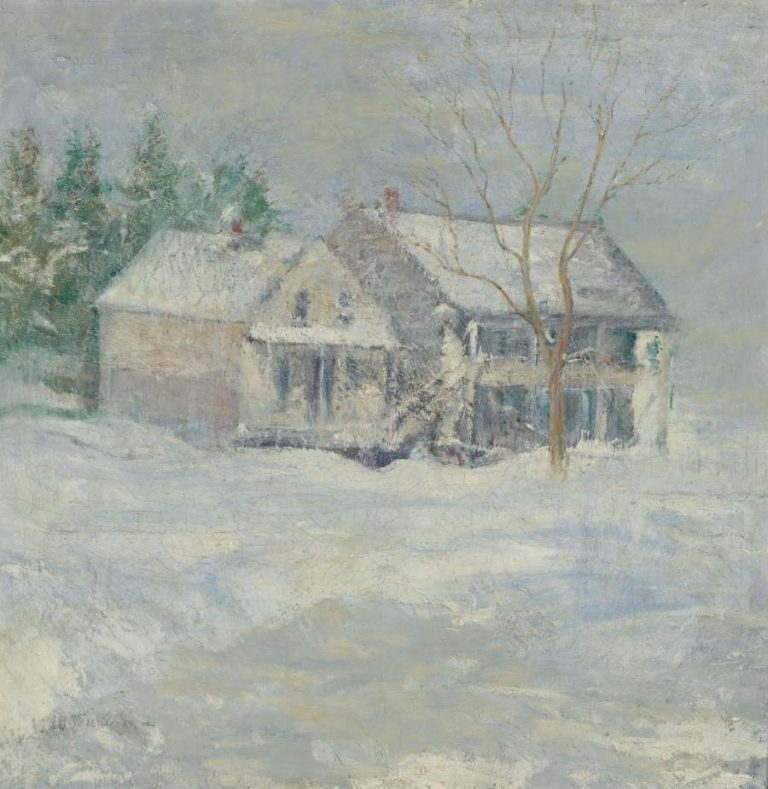 Brush House Cos Cob | John Henry Twachtman | oil painting