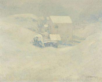 Snow 1889 1902 | John Henry Twachtman | oil painting