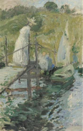 Summer Afternoon (Figures on a Bridge) 1900 | John Henry Twachtman | oil painting