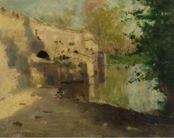 The Old Bridge | John Henry Twachtman | oil painting