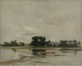 The Pond 1884 | John Henry Twachtman | oil painting