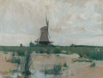 The Windmill 1885 | John Henry Twachtman | oil painting