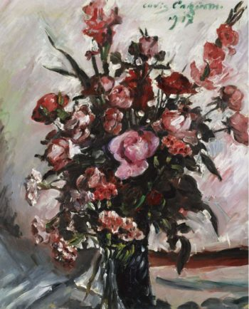 Pink Roses 1917 | Lovis Corinth | oil painting