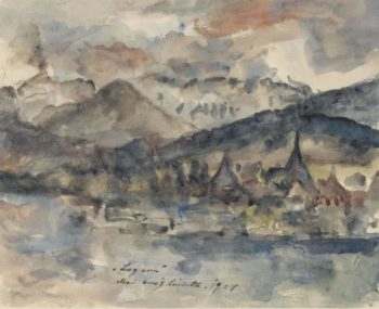 View of Lucerne 1924 | Lovis Corinth | oil painting