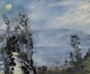 Walchensee Moon in June 1920 | Lovis Corinth | oil painting