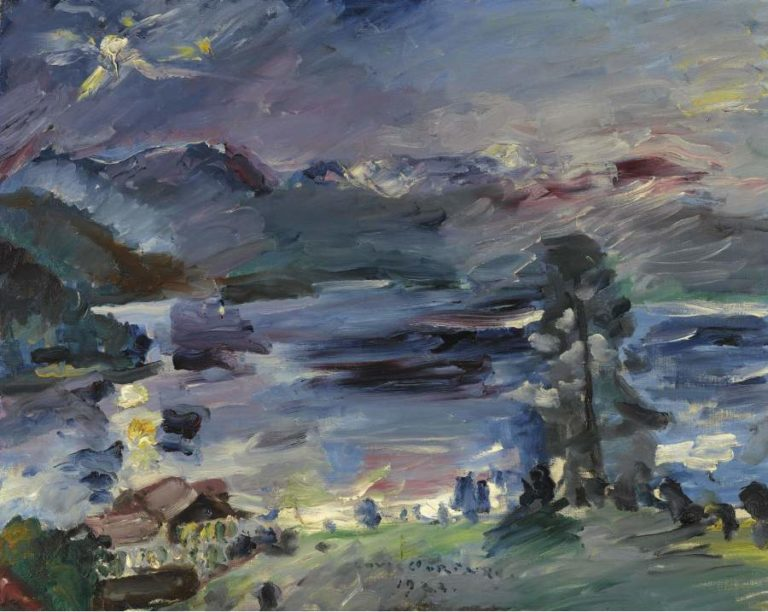 Walchensee Rising Moon 1922 | Lovis Corinth | oil painting