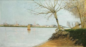 Banks of the Loire 1889 | Maxime Maufra | oil painting