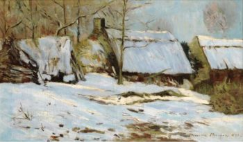 Cabins under the Snow 1891 | Maxime Maufra | oil painting