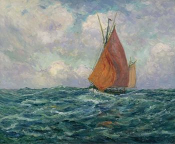 Fishing Boat at the Sea 1907 | Maxime Maufra | oil painting