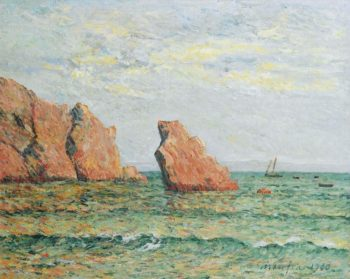Lonely Rock at Morgat 1900 | Maxime Maufra | oil painting