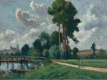 Auxerre Landscape of a Riverbank 1900 | Maximilien Luce | oil painting