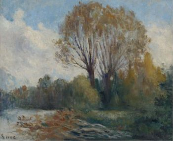 Banks of the Seine in Autumn | Maximilien Luce | oil painting