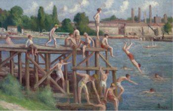 Bathing 1920   Maximilien Luce   oil painting