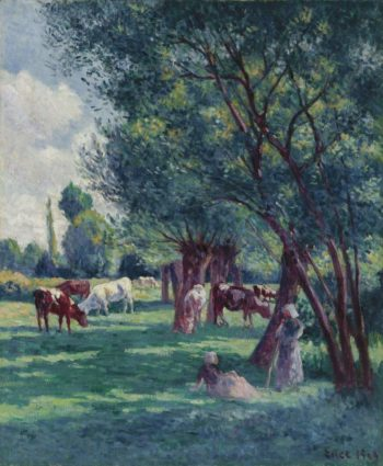 Bessy sur Cure Peasants Looking for the Cows 1906 | Maximilien Luce | oil painting