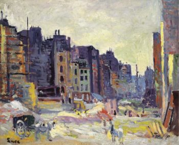 Digging at the Reaumur Street | Maximilien Luce | oil painting