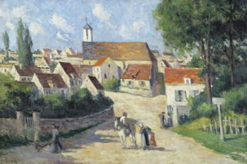 Guernes Village Street | Maximilien Luce | oil painting