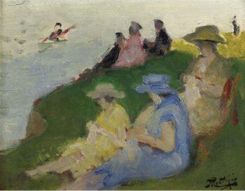 Young Women Knitting | Pierre Eugene Montezin | oil painting