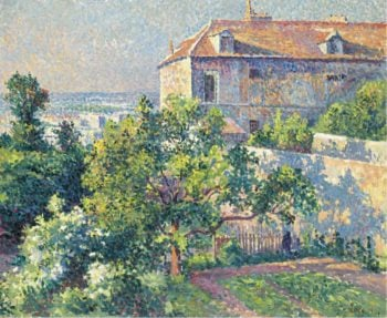 Montmartre the House of Suzanne Valadon 1895 | Maximilien Luce | oil painting