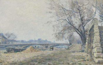 The Bridge of Solferino 1884   Maximilien Luce   oil painting