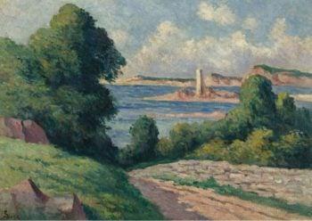 The Estuary of Trieux 01   Maximilien Luce   oil painting