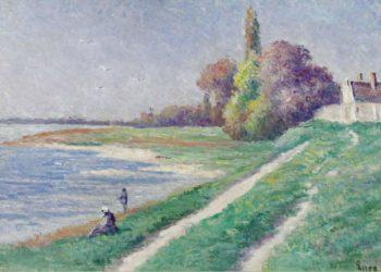 The Estuary of Trieux 02   Maximilien Luce   oil painting