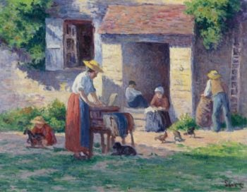 The Farm at Bessy sur Cure 1906 07 | Maximilien Luce | oil painting