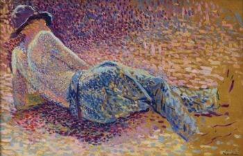The Labourer`s Resting 1888 | Maximilien Luce | oil painting