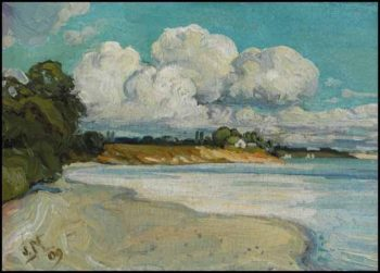 On the Lake Shore Near Bronte | J. E. H. MacDonald | oil painting