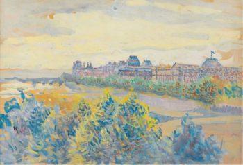 The Louvre   Maximilien Luce   oil painting