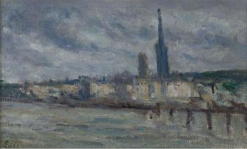 The Moorages Rouen 1920   Maximilien Luce   oil painting