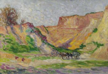 The Outskirts of Rollebois Harness at the Sand Pit | Maximilien Luce | oil painting