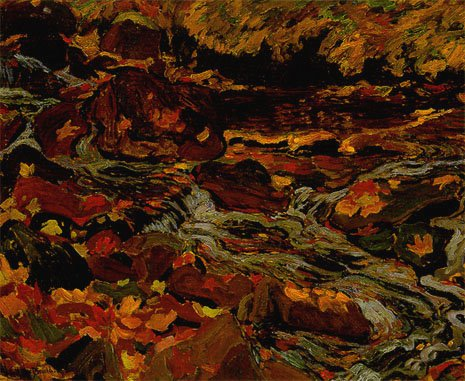 Leaves in the Brook | J. E. H. MacDonald | oil painting