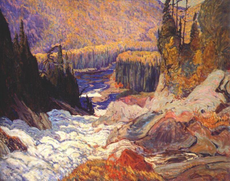 Montreal River   J. E. H. MacDonald   oil painting