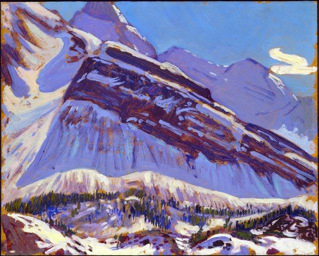 September Snow on Mount Schaffer | J. E. H. MacDonald | oil painting