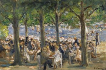 Beer Garden near the Havel under the Trees 1920 22 | Max Liebermann | oil painting