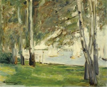 Birch Trees on the Banks of Wannsee to the East 1924 | Max Liebermann | oil painting