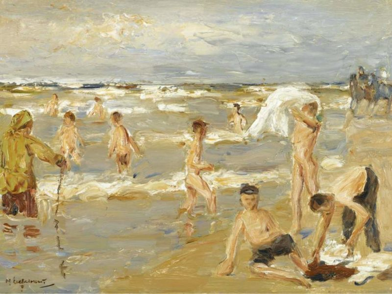 Boys Bathing 1909 | Max Liebermann | oil painting
