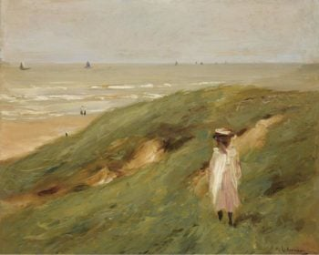 Dune near Nordwijk with Child 1906 | Max Liebermann | oil painting