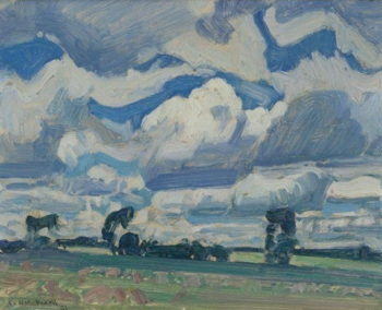 Fields and Sky | J. E. H. MacDonald | oil painting