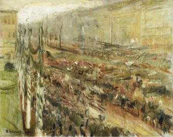 Entrance of the Troops into Pariser Platz 1918 | Max Liebermann | oil painting