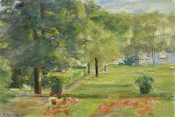 Flower Terrace Wannsee Garden to the East 1923 | Max Liebermann | oil painting